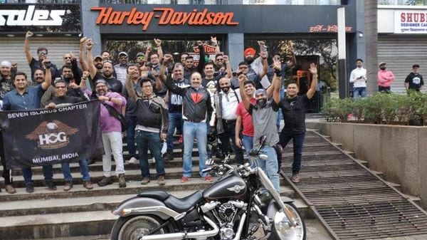Harley-Davidson owners stage a protest against the company for its decision of an India pullout and for allegedly keeping the dealer network in the dark.