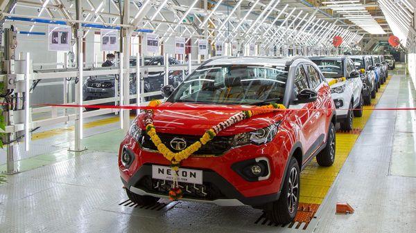 The 1,50,000th Nexon SUV rolled out of Tata Motors' Ranjangaon facility in Pune.
