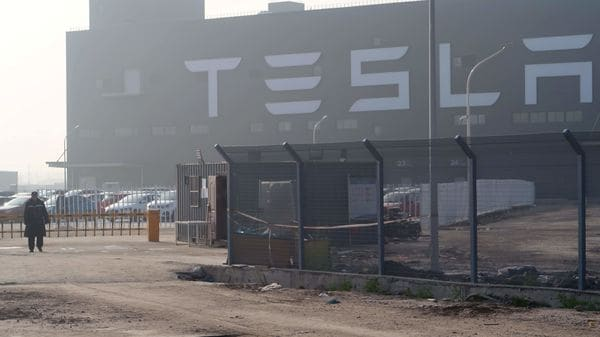 File photo of a Tesla Gigafactory (REUTERS)