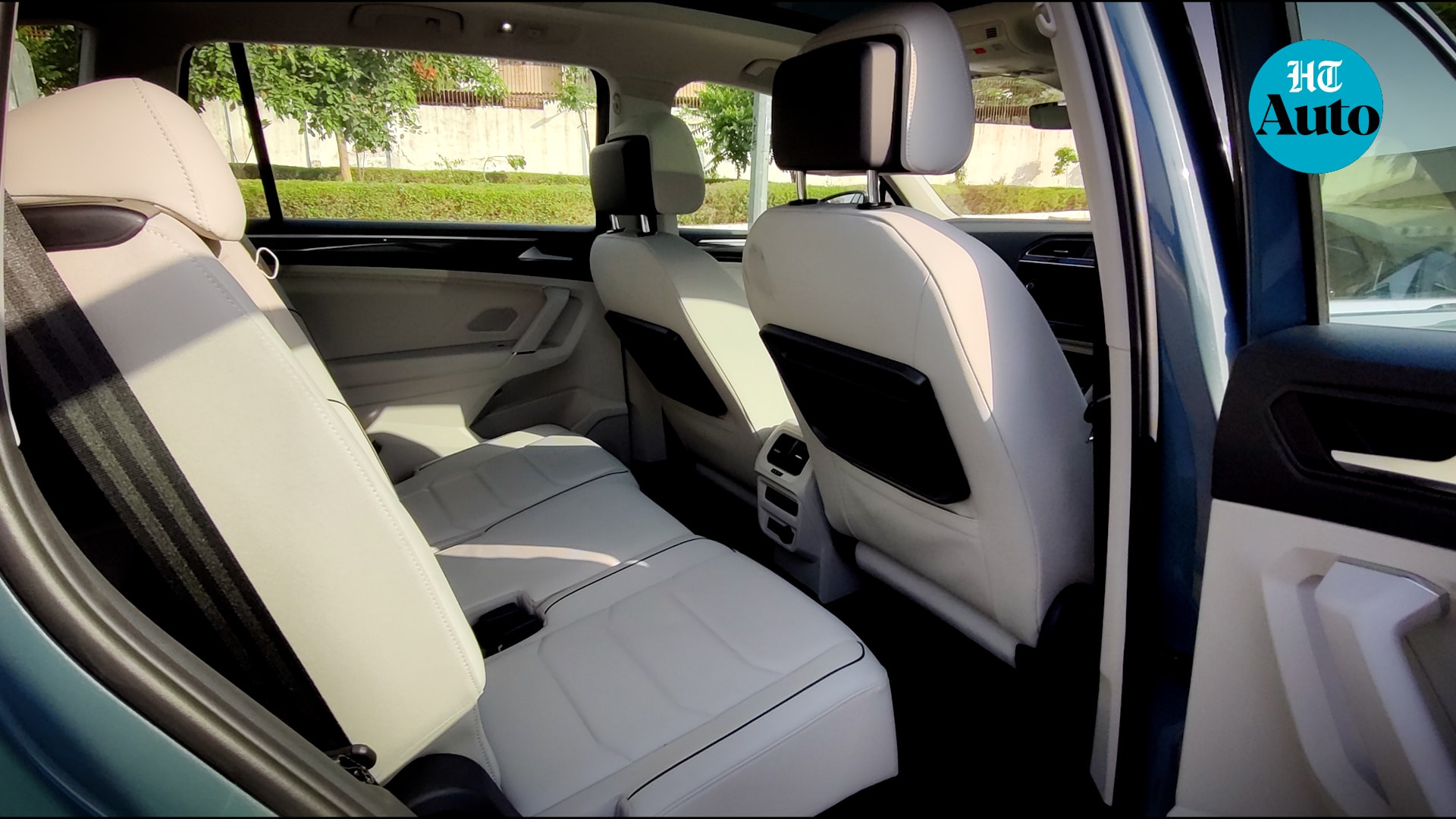 Leather seats, powered-driver seat and three-zone climate control are some of the features offered. The back of the front seats also offer fold-away trays for a more airline-like experience.