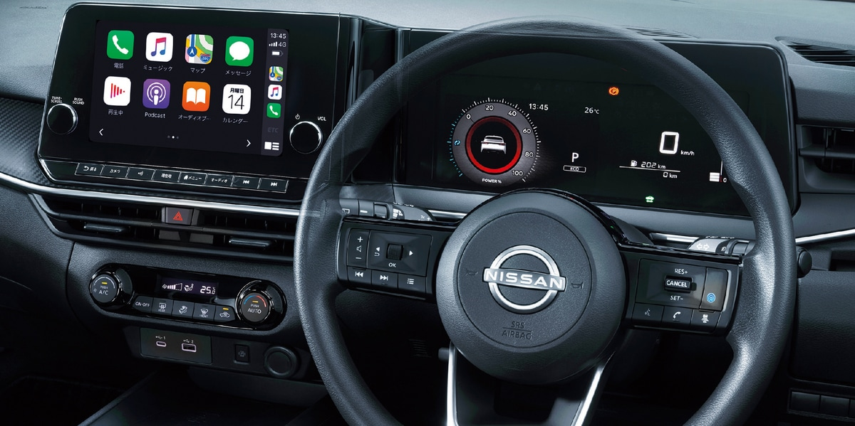 Integrated digital display interfaces for navigation and vehicle information among other things is an example of Nissan keeping in touch with the digital era. Wireless charging facilities are also provided and the digital display makes it easy to access information.
