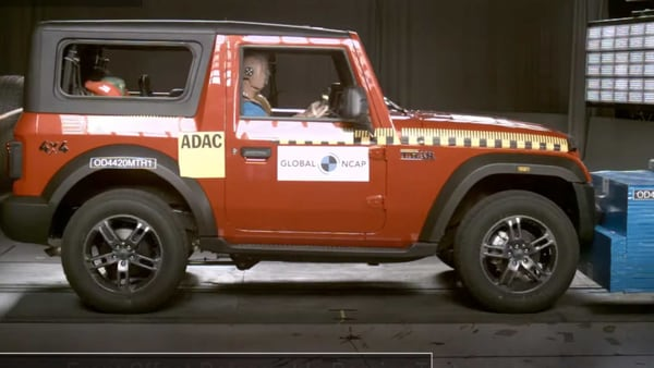 Mahindra Thar SUV passed the Global NCAP crash test with four-star rating.