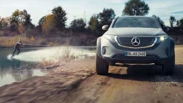 Mercedes EQC 4x4 concept shows off its off-road capabilities in a video recently released by the car maker.