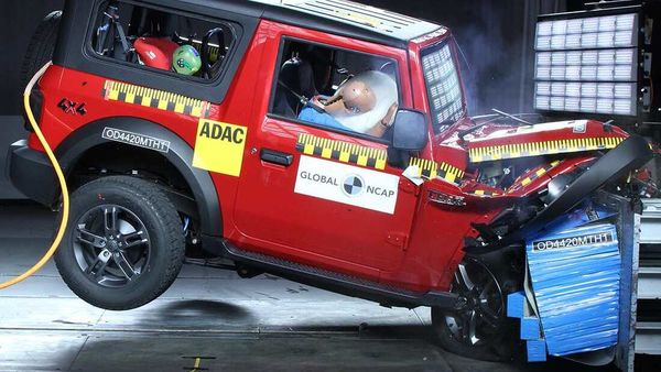 Mahindra Thar SUV passed the crash test at Global NCAP with four-star rating.