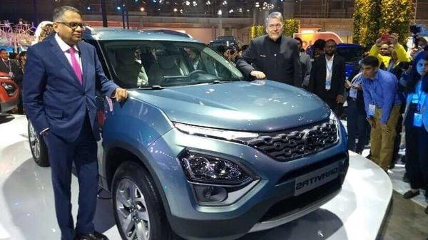 Tata Gravitas seven-seater SUV at the Auto Expo 2020.