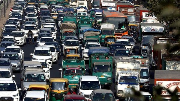 Traffic movement inside the city slowed down on the Delhi carriageways, as the police intensified checking of commuters ahead of the farmers' protest in New Delhi on Thursday.
