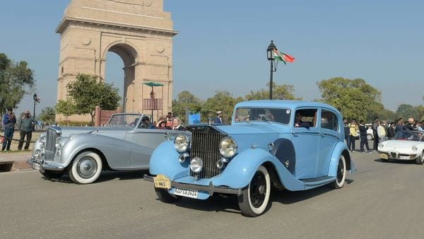 File photo of the 21 Gun Salute International Vintage Car Rally & Concours d'Elegance at the India Gate. (File photo) (PTI)