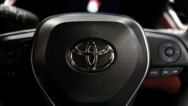 The Toyota emblem is seen on the wheel of a vehicle. (File photo) (REUTERS)