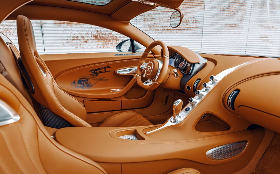 Gaucho leather, used in aircrafts in the 1920s, has been used in the car's interiors. The special edition cars will also be numbered from 1 to 20. When the car's doors are opened, the edition logo is projected on the floor.