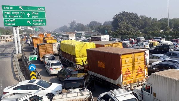 Traffic jams were reported from several border areas which connect Haryana to Delhi, on Monday.