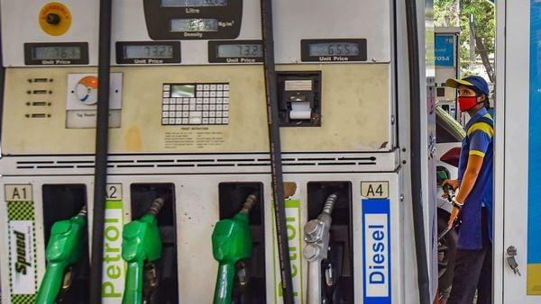 File photo of a petrol pump (PTI)