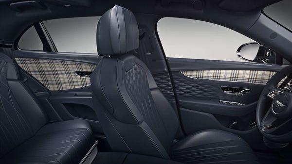 Tweed door trim option from Bentley