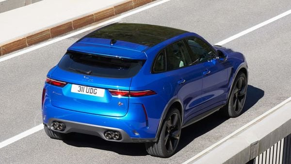 2021 Jaguar F-Pace SVR is powered by the same supercharged 5.0-litre V8 engine. It produces the same 550 horsepower and an 8-speed automatic gearbox is still the transmission of choice.