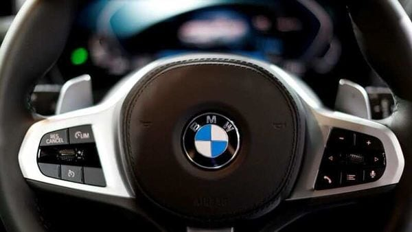 BMW logo is seen on a steering wheel. (File photo) (REUTERS)
