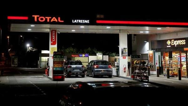 A petrol station of French oil giant Total near Bordeaux, France. (File Photo) (REUTERS)