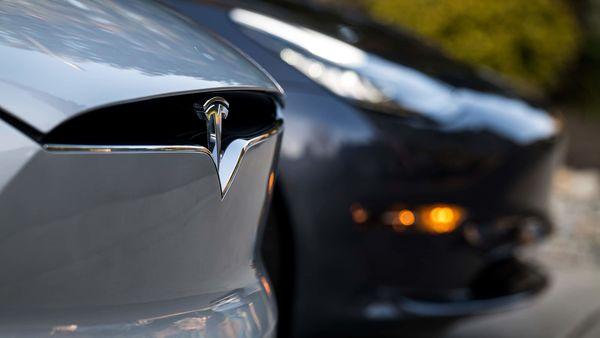 File photo of Tesla logo (Bloomberg)
