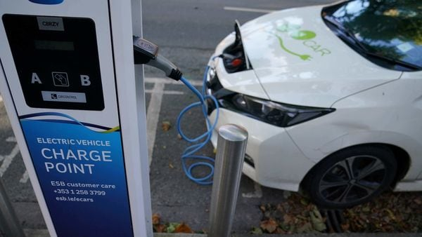 File photo of an electric vehicle charging (REUTERS)