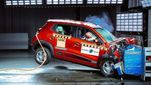 Renault Kwid's South Africa-spec model being tested at the Global NCAP.