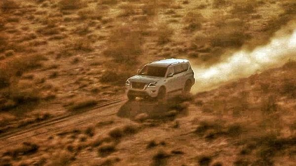 Nissan teased this image and a video of the facelift version of the Armada SUV ahead of its unveiling on December 8.