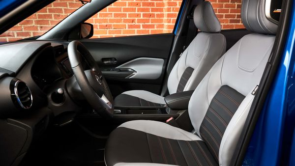 2021 Nissan Kicks features new seat materials and premium finish. It also gets a new centre console with armrest. Nissan has also added Bose Personal Plus audio system.