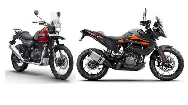 Royal Enfield Himalayan (left) is a more affordable offering against the KTM 250 Adventure (right).