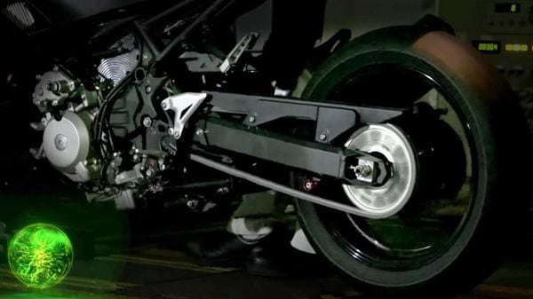 Kawasaki has started the development of hybrid technology and bikes with artificial intelligence.