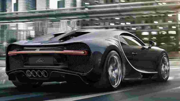 File - Rear profile of Bugatti Chiron Noire. (Photo courtesy: Bugatti)
