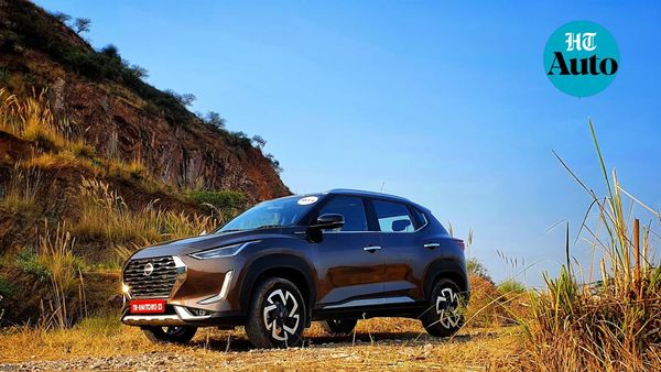 Nissan Magnite is offered only with petrol engine but a turbo option and CVT makes it an interesting option to consider. (HT Auto/Sabyasachi Dasgupta)
