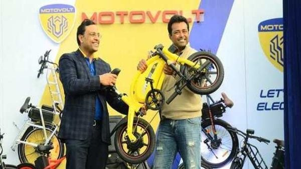 Motovolt unveiled four variants of the e-cycles on Saturday. Image: ANI
