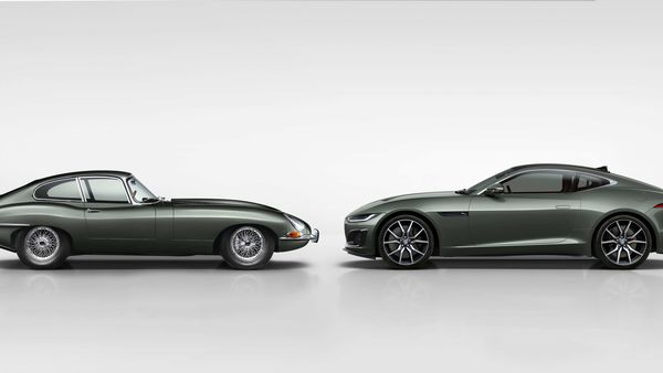 Jaguar F-Type Heritage Edition (R) pays tribute to the classic E-Type.