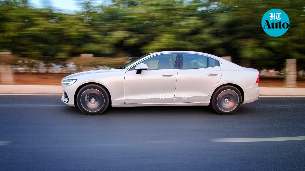 Wheelbase of the new S60 from Volvo has gone up by 100 mm for added space for rear passengers as well as a more sporty exterior profile. (HT Auto/Sabyasachi Dasgupta)