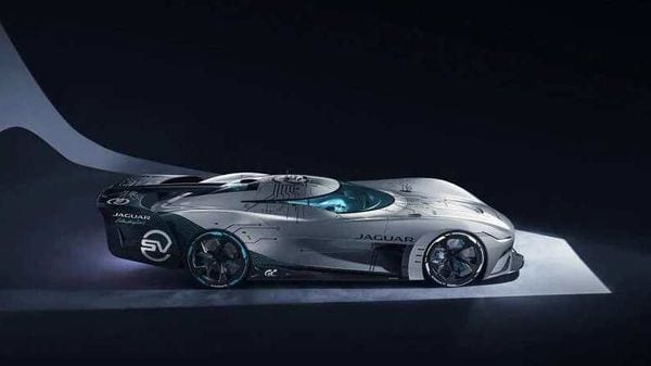 Jaguar has built a real-life model of its hypothetical hypercar - Vision GT SV.