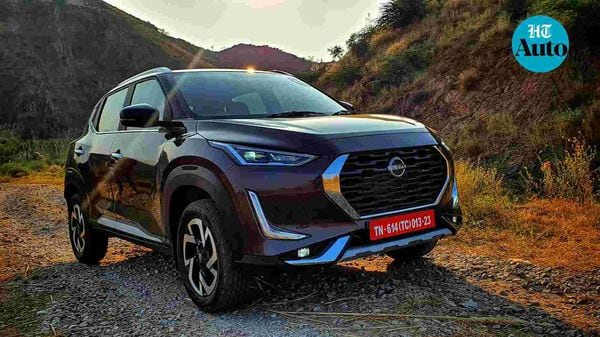 Nissan Magnite is offered in both dual-tone as will as single-tone colour options. (HT Auto/Sabyasachi Dasgupta)
