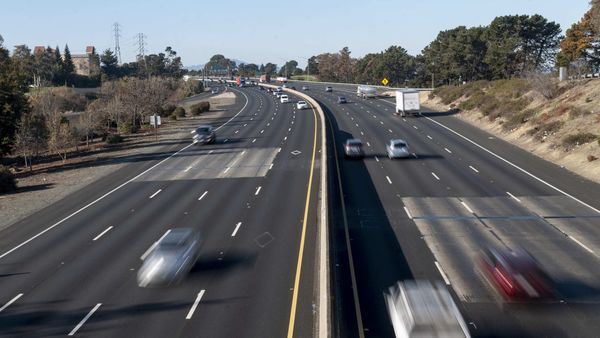 Vehicles moving on a motorway in California, USA. (Bloomberg)