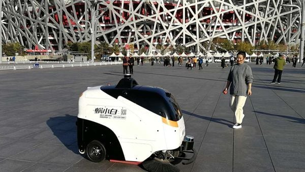 File image: Chinese robosweepers by Idriverplus tech co. (Representational image) (Bloomberg) (Bloomberg )