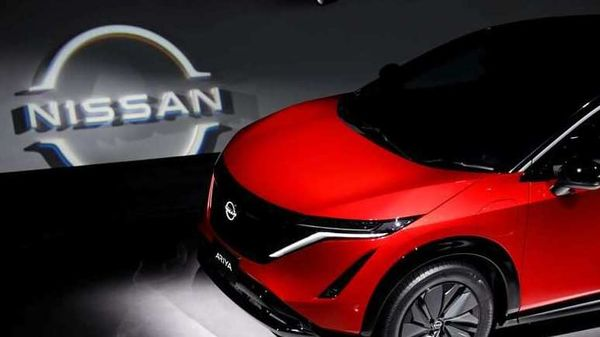 FILE PHOTO: Nissan Motor Corp. displays its new Ariya all-battery SUV during a press preview at Nissan Pavilion in Yokohama, south of Tokyo, Japan July 14, 2020. REUTERS/Issei Kato/File Photo (REUTERS)