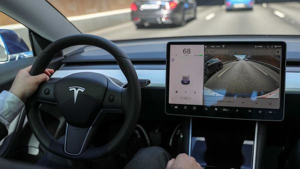 File photo of the cabin of a Tesla Model 3. (REUTERS)