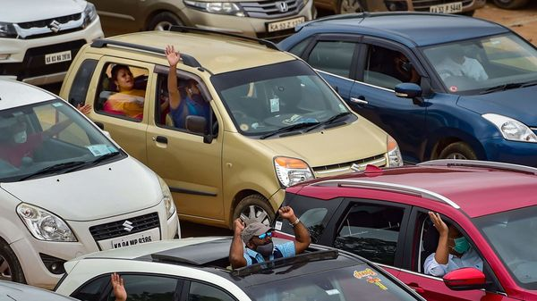 In 2018-19, passenger vehicle sales rose 2.7 per cent to 33,77,436 units from 32,88,581 units in 2017-18. Representational image of a car parking. (PTI)