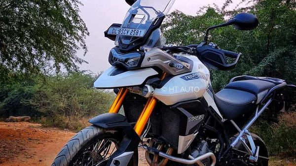 Tiger 900 line comes out as a replacement to the 10-year running Tiger 800 series. (HT Auto/Prashant Singh)