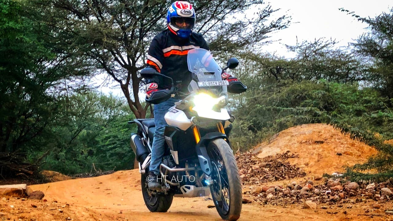 The Tiger 900 is around 6.8 kg lighter than the previous Tiger 800. (HT Auto/Prashant Singh)