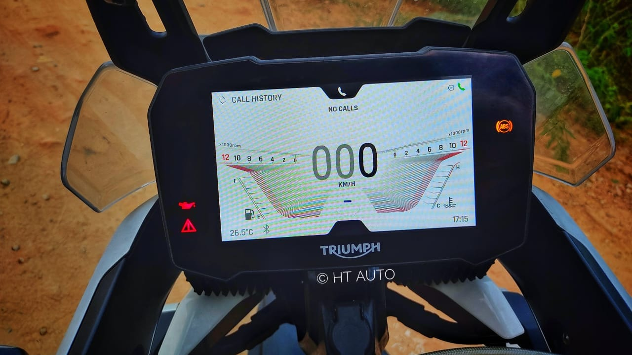 Tiger 900 gets a new 7.0-inch TFT instrument cluster which offers a very crisp and feature-rich display. (HT Auto/Prashant Singh)
