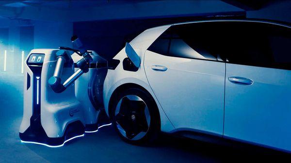 Volkswagen's mobile charging robot