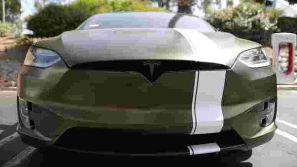 File photo of a Tesla EV in Los Angeles, California. (REUTERS)