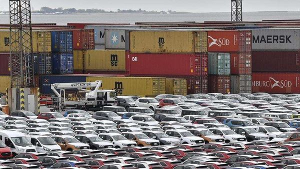 Cars for import and export in the free harbour in Bremerhaven, Germany. (File photo used for representational purpose only)