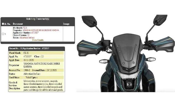 The filing document suggests that Yamaha Motor Company has applied for the name registration on November 5, 2020.