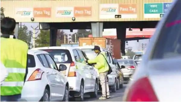 The deadline to fully implement toll collection through FASTags on vehicles has been extended till February 15. (File photo)