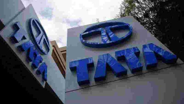 Tata Motors logos are seen at their flagship showroom in Mumbai February 14, 2013. REUTERS/Vivek Prakash/File Photo (REUTERS)