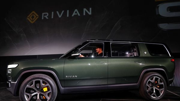 File image of Rivian electric truck (Reuters)