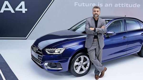 Balbir Singh Dhillon, head- Audi India pictured with the new Audi A4.