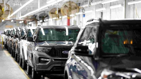 File photo of 2020 Ford Explorer cars at the company's Chicago assembly plant. (REUTERS)